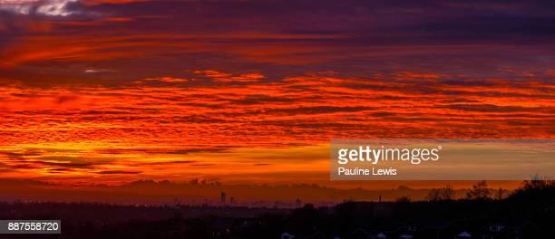 Cloud Typologies - Winter Sunset Panorama