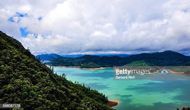 Clouded sky over Lake Shasta
