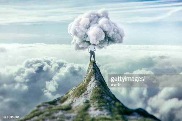 clouded view at the top - vanity stock pictures, royalty-free photos & images