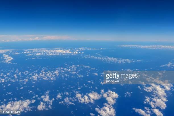 clouds above the sky - 太平洋 ストックフォトと画像