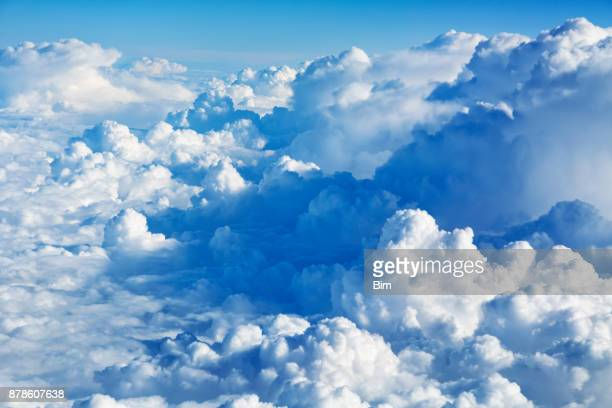 clouds aerial view - cloud sky stock pictures, royalty-free photos & images