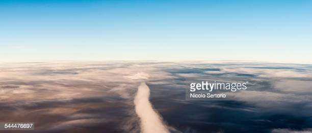 Clouds and horizon from the air