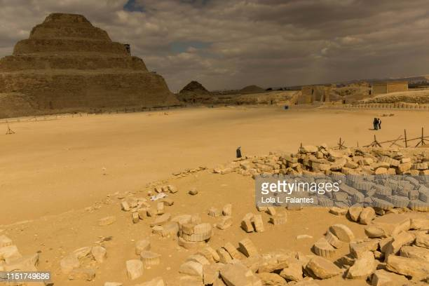Clouds and shadow over the Step pyramid of Djoser. Saqqara