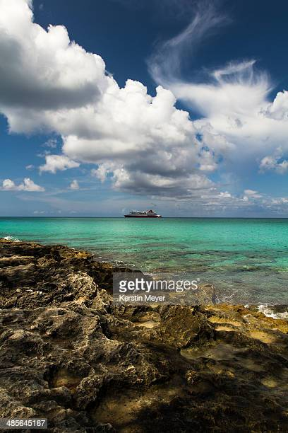 clouds and ship - bimini stock photos and pictures