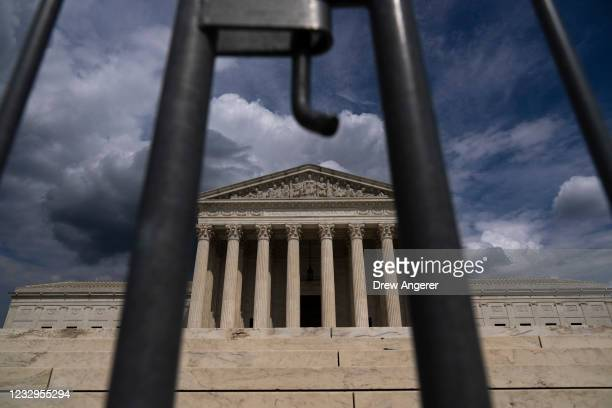 Clouds are seen above The U.S. Supreme Court building on May 17, 2021 in Washington, DC. The Supreme Court said that it will hear a Mississippi...