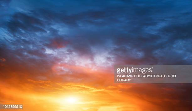 clouds at sunset - sky only stock pictures, royalty-free photos & images