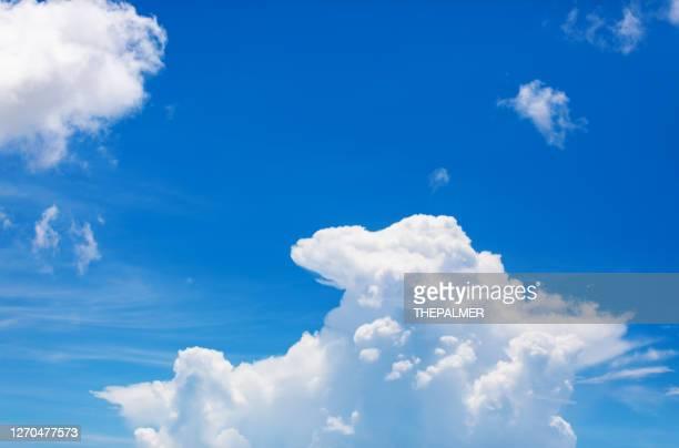 wolken blauwe hemel florida - heldere lucht stockfoto's en -beelden