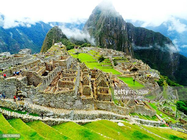 Clouds Drift Along Top Of Andes Mountains At Machu Picchu