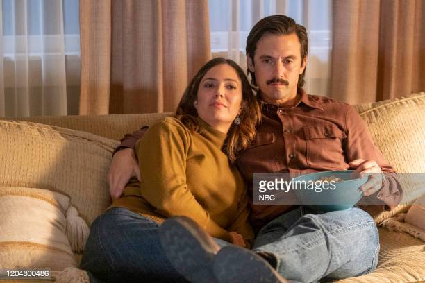 "Clouds"" Episode 415 -- Pictured: Mandy Moore as Rebecca, Milo Ventimiglia as Jack --"