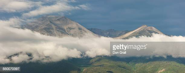Clouds form along the Continental Divide