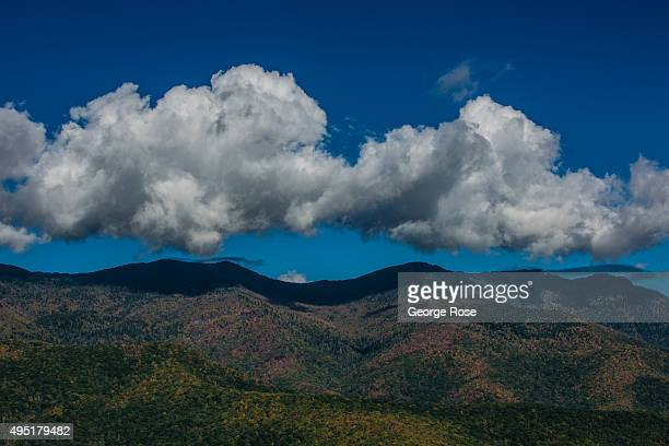Clouds form along the ridge tops along the Blue Ridge Parkway on October 6 2015 near Asheville North Carolina Named one of the 'Top 10 Great Places...