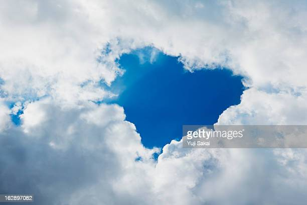 clouds forming heart in sky