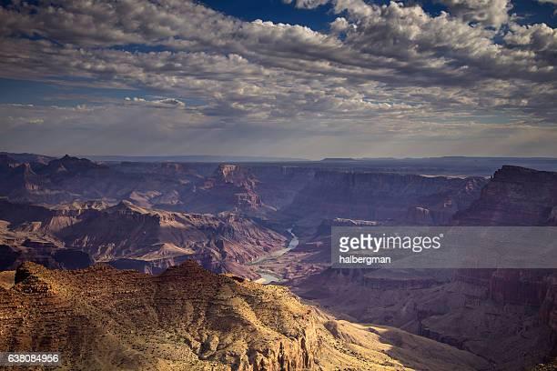 clouds forming over the grand canyon - formação rochosa imagens e fotografias de stock