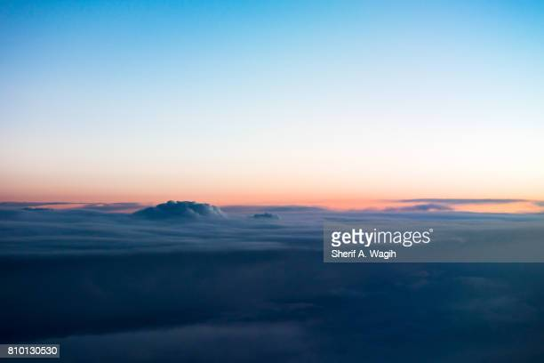 clouds from above - summit stock pictures, royalty-free photos & images