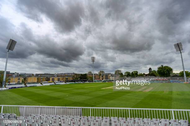 Clouds gathering at Essex during the LV= County Championship match between Essex and Warwickshire County Cricket Club at the Cloudfm County Ground,,...