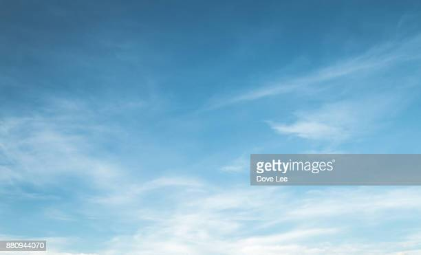clouds in blue sky - sky only stock pictures, royalty-free photos & images