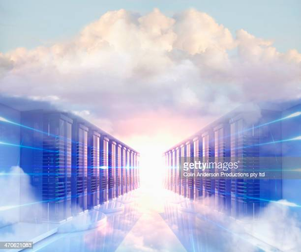 Clouds in server room