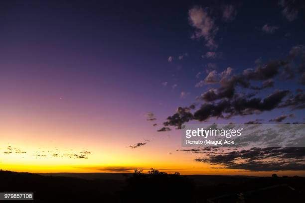 Clouds in sky at sunset, Abadiania, Goias, Brazil