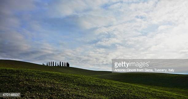 clouds in valdorcia - san quirico d'orcia stock pictures, royalty-free photos & images