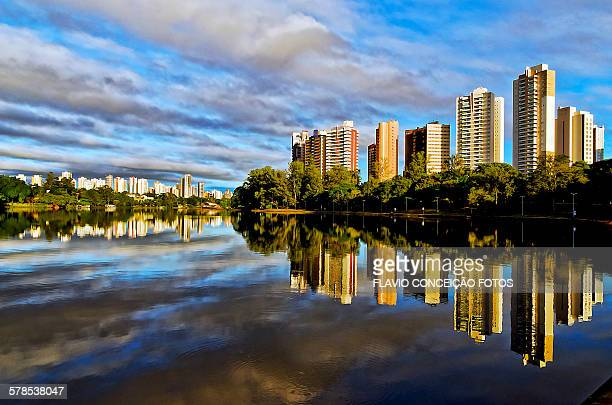 Clouds Londrina lake Brazil