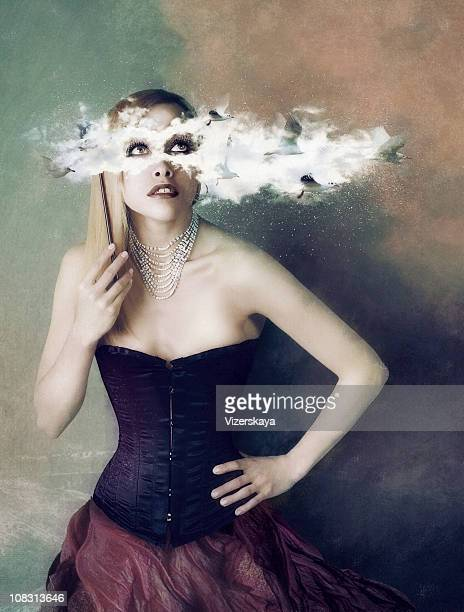 clouds mask. carnival.