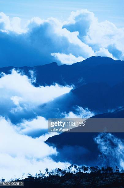 Clouds near Mountain Range