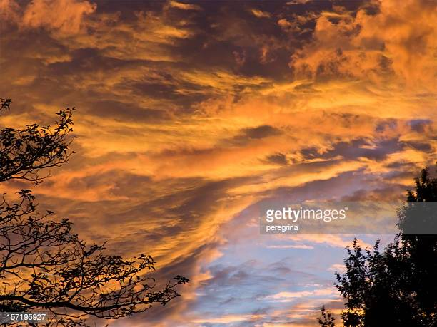 clouds of fire - cuernavaca stock photos and pictures