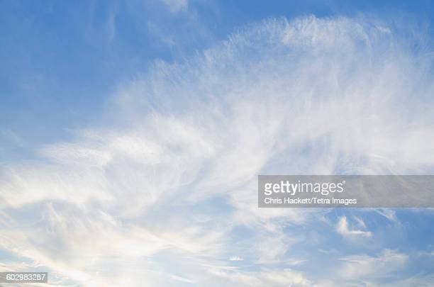 usa, clouds on blue sky - hackett stock photos and pictures