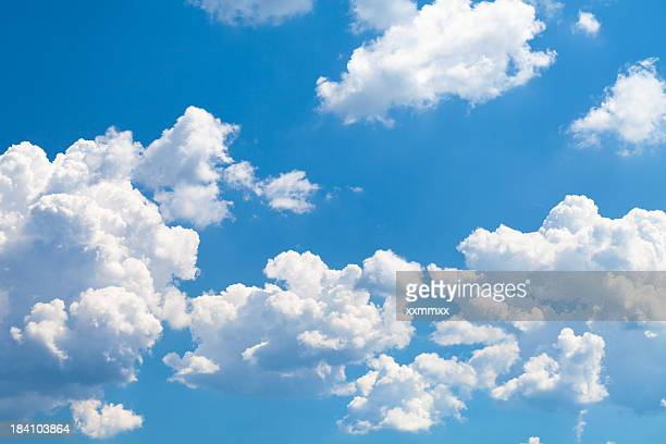 clouds on sky - blue sky stock pictures, royalty-free photos & images