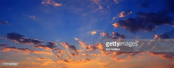 Clouds on sky - sunset panorama