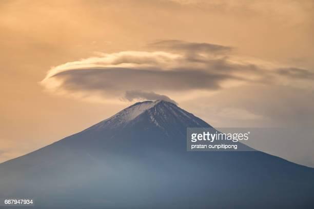 Clouds on top of fujisan