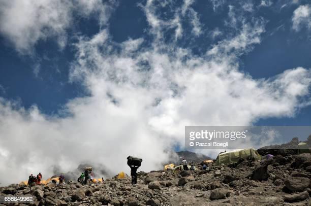 Clouds over Barafu Camp, Kilimanjaro National Park
