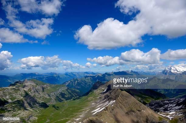 Clouds over Bernese Alps, Stechelberg, Switzerland