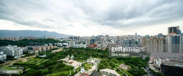 Clouds over city, Fuzhou, Fujian, China