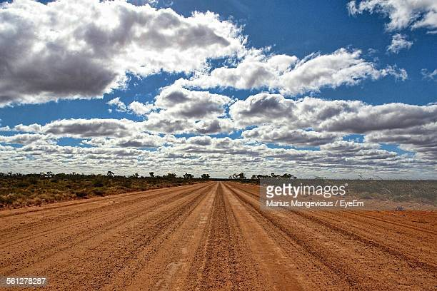 Clouds Over Dirt Road