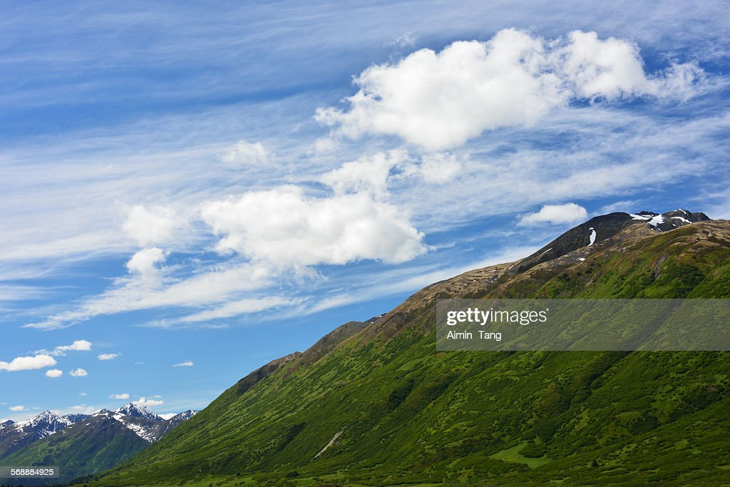 Clouds over Green Mountain in Alaska : Stock Photo
