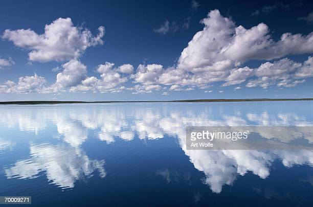 Clouds over lake, Yellowknife Region, NW Territories, Canada
