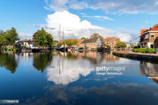 clouds over meppel, the netherlands - drenthe stock pictures, royalty-free photos & images