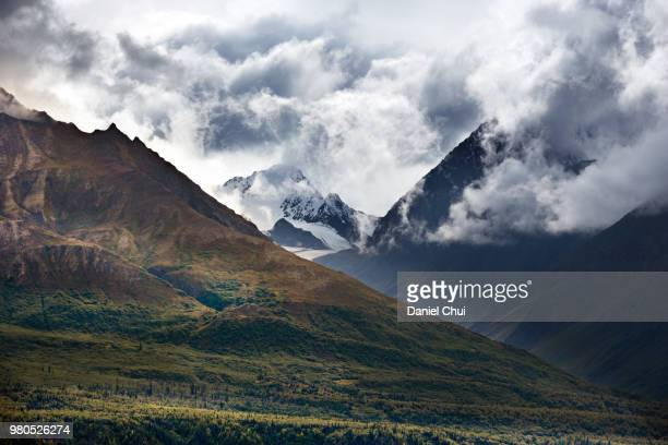 Clouds over mountain range, Sierra, Alaska, USA