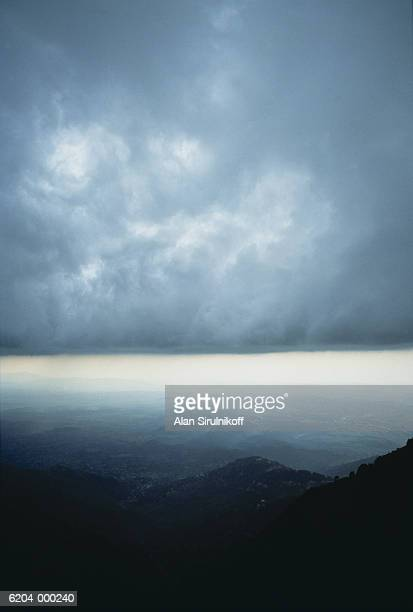 clouds over mountains - sirulnikoff stock pictures, royalty-free photos & images