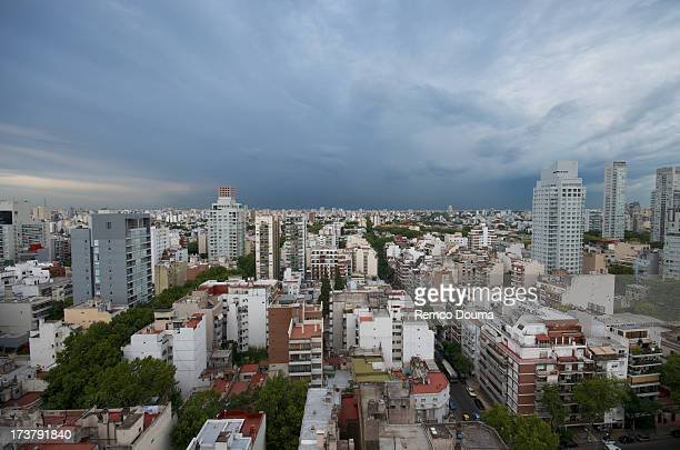 clouds over palermo - palermo buenos aires stock photos and pictures