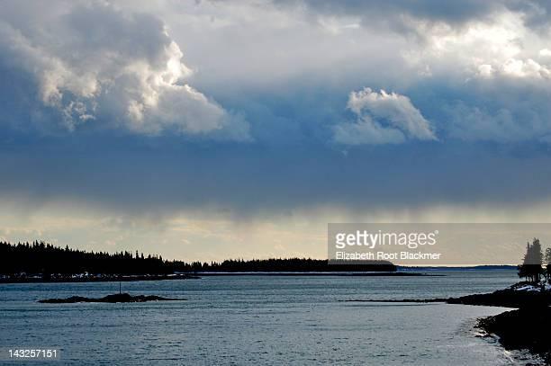 Clouds over penobscot bay