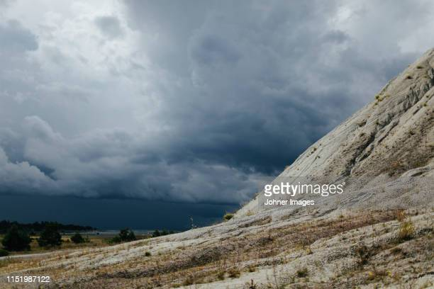 clouds over sand dunes - gotland stock pictures, royalty-free photos & images