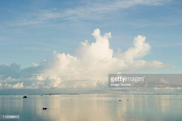 Clouds over South Pacific Ocean