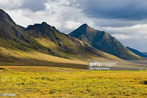 clouds over the ogilvie mountains, tombstone territorial park, yukon, canada - territory stock pictures, royalty-free photos & images