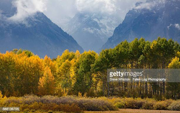Clouds Over the Tetons in Fall