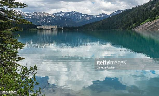 Clouds reflected in Lake Louise, Canadian Rockies