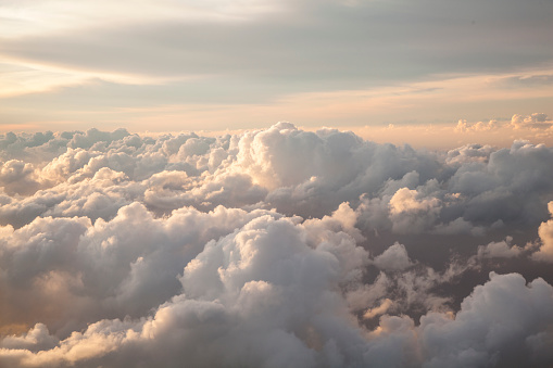 Clouds seen from an airplane - gettyimageskorea