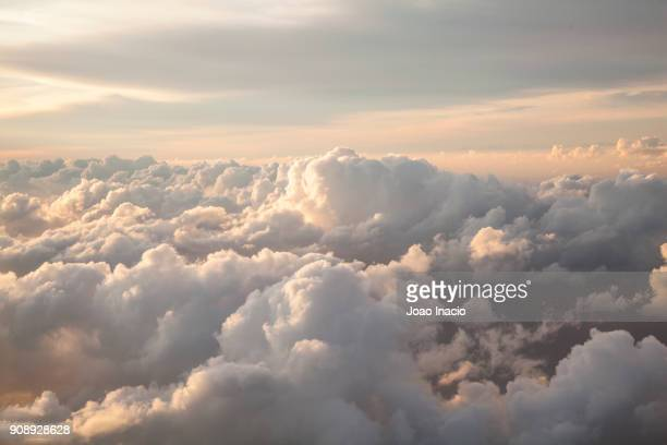 clouds seen from an airplane - cloud sky stock pictures, royalty-free photos & images