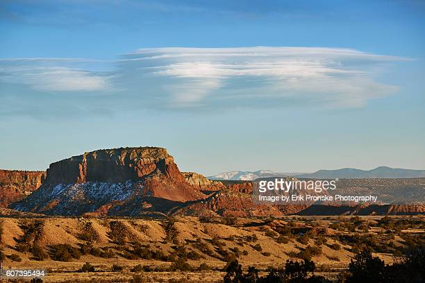 clouds & sunset, abiquiu - santa fe new mexico stock pictures, royalty-free photos & images